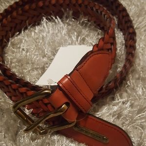 Burberry Leather Woven Belt